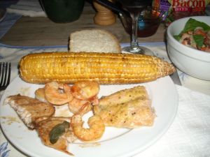 the corn was kind of old, but still tasted smokey from the planks!