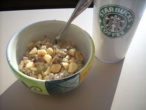 318 calories, 12 fat, 43 carbs, 7 fiber, 12 protein