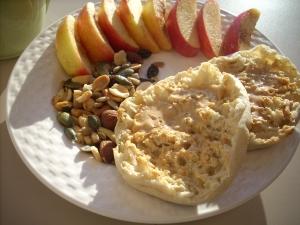 350 calories, 14 fat, 7 fiber, 46 carbs, 11 protein