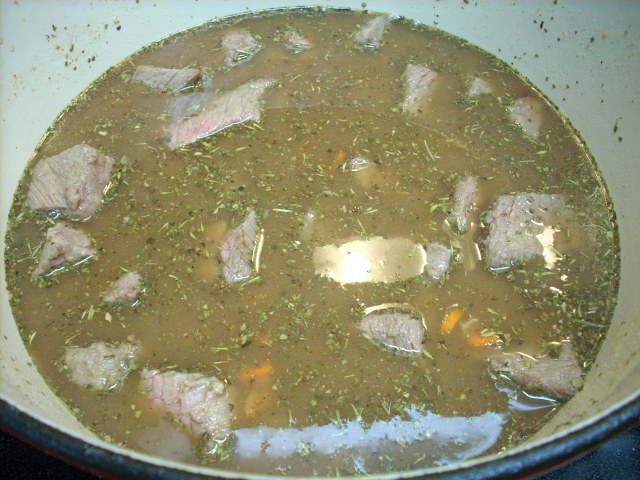 what it looked like simmering