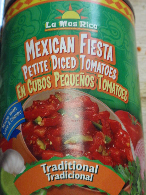 these are the spicy tomatoes I used - they sell them in my dollar store for .50 cents a can!