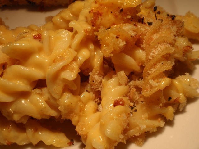 I used some of my garlic bread crumbs on the top - so good!