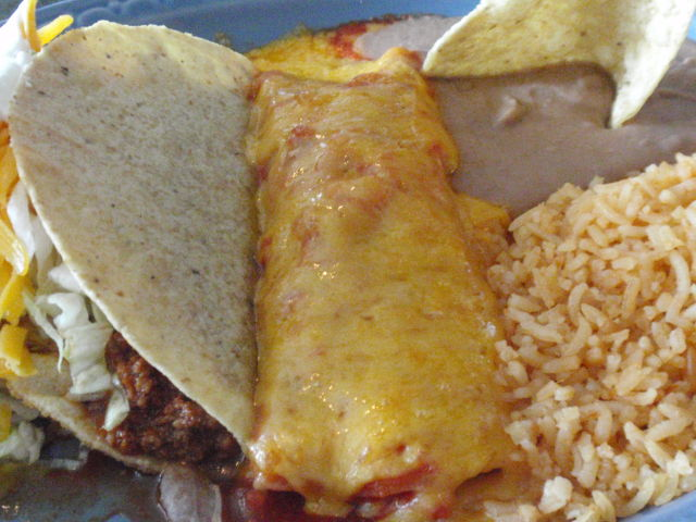 um, that's a little bit of cheese on that enchilada!