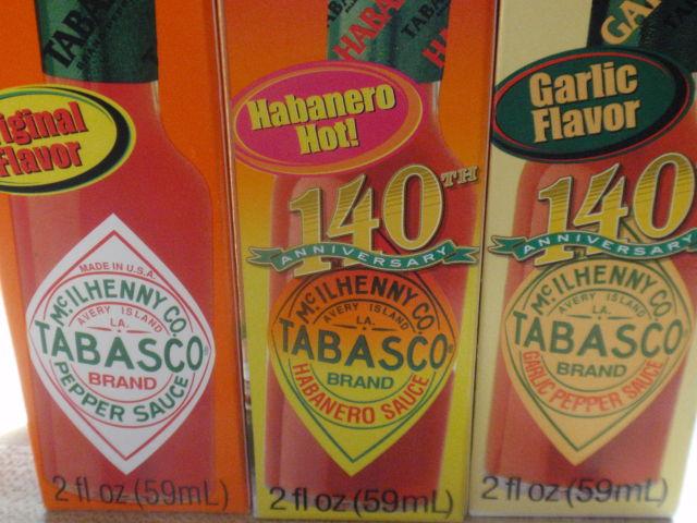 a TRIO of Tabasco!! :D