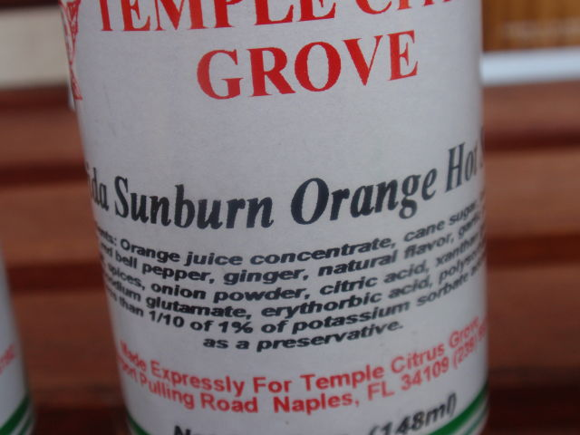 Florida Sunburn Orange Hot Sauce - orange juice, jalapeno and red bell pepper