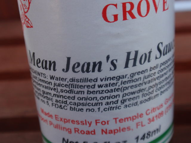 Gotta love that the second ingredient on this is VINEGAR!  Vinegar, green bell pepper and jalapeno!