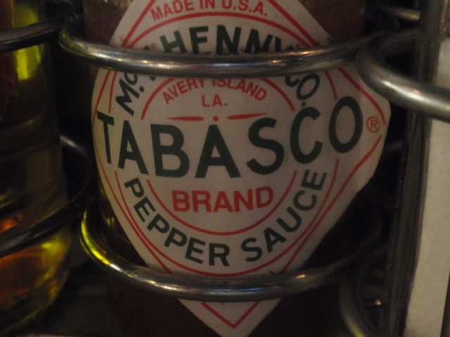 Gotta love the Tabasco on the table without asking!