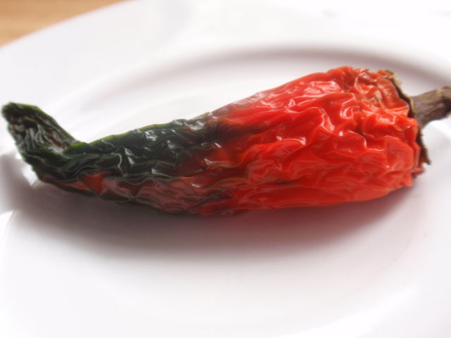 And I found this jalapeno pepper that was on the bottom of the veggie drawer - I guess I can use it like a dried pepper?