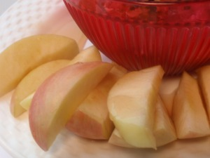 my apple was a bit tart, so I drizzled it with 1 tablespoon of sugar free syrup - worked great!