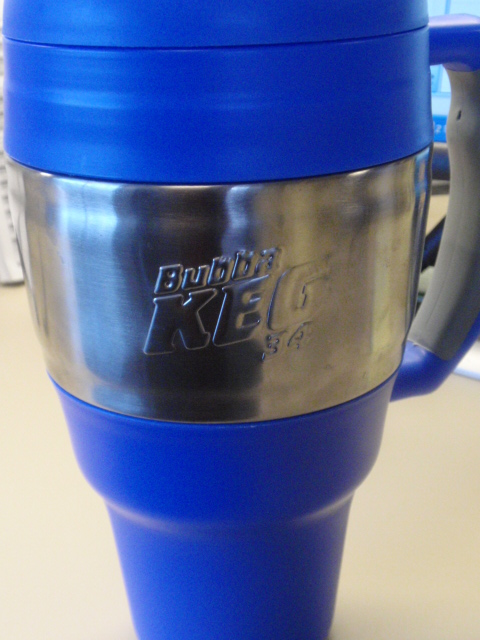 I brought out the Bubba Keg - while I like that this doesn't sweat, its top heavy when its almost empty - this holds 34 ounces - I drank two of these during the day