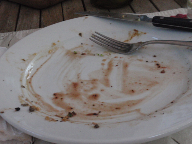 I didn't like dinner at all! :D