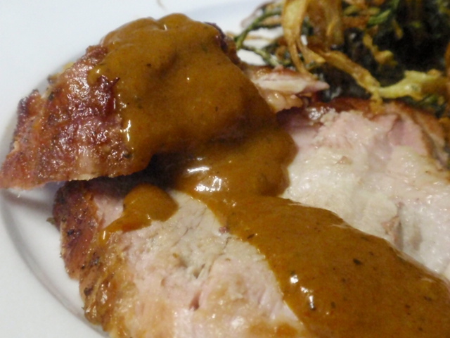 my plate!  if you like mustard bbq sauce - you HAVE to make this!
