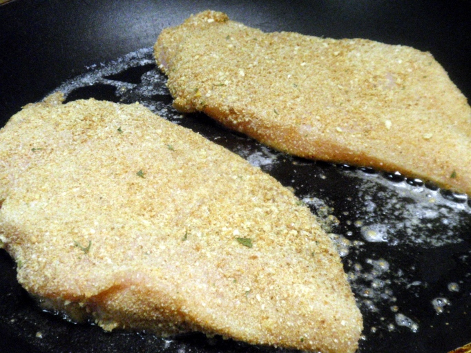 I used a combo of whole wheat bread crumbs and panko bread crumbs