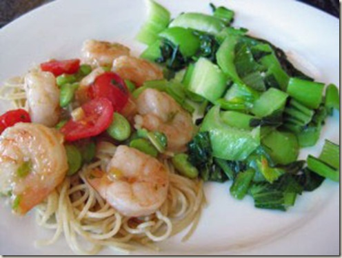 sweet scallion shrimp - jacky