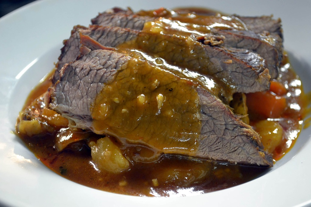 how to cook beef brisket bone in