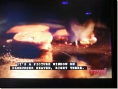 burgers on tv