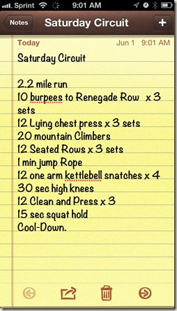 lunch workout
